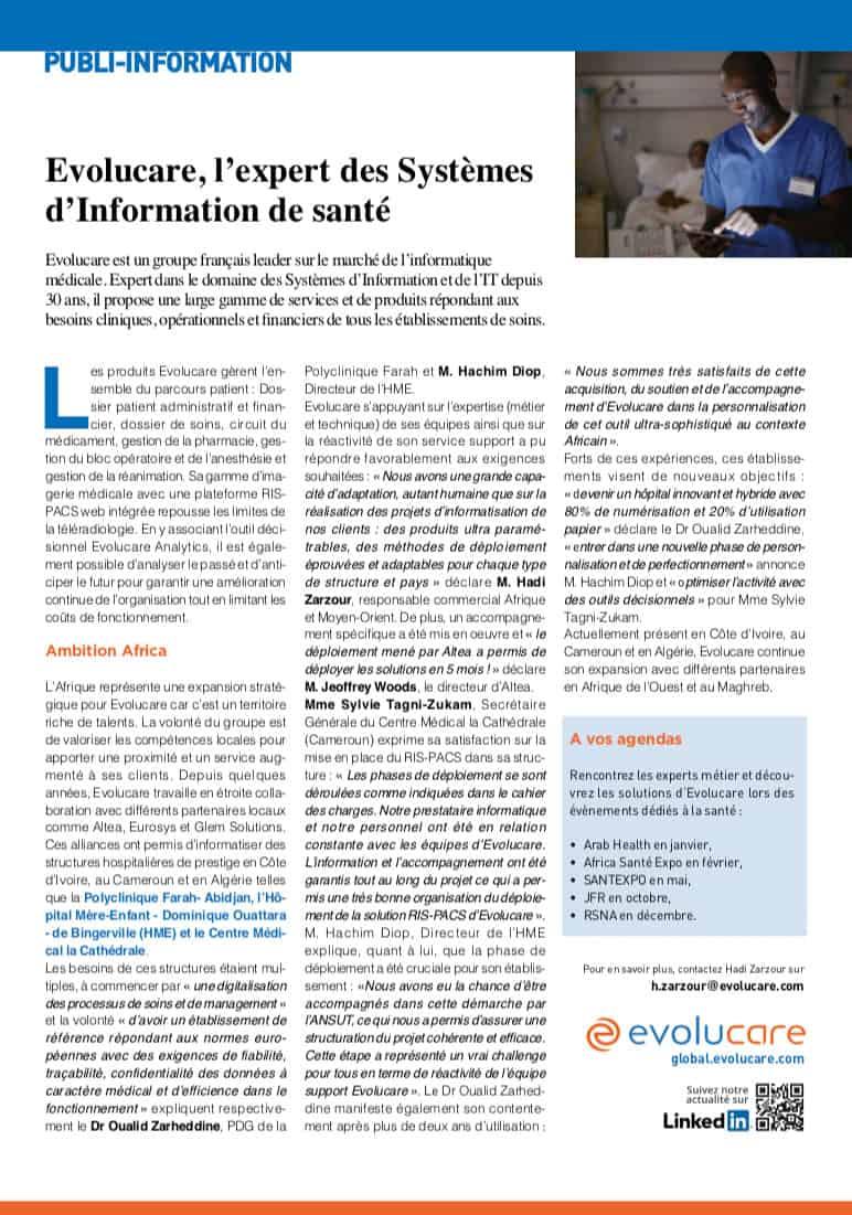 Jeune Afrique - Evolucare expert santé